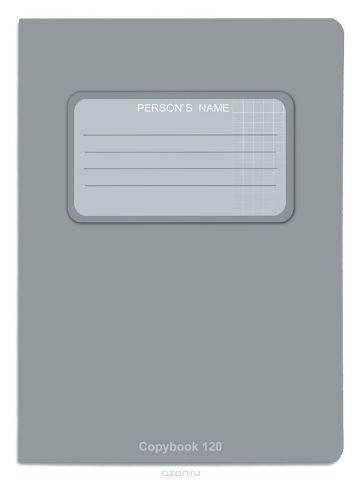 Проф-Пресс Тетрадь 120 листов в клетку цвет серый