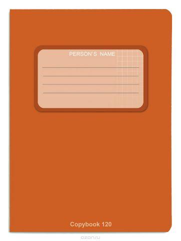 Проф-Пресс Тетрадь 120 листов в клетку цвет оранжевый