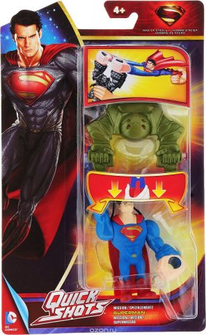 Mattel Устройство для запуска фигурки Man Of Steel цвет зеленый синий