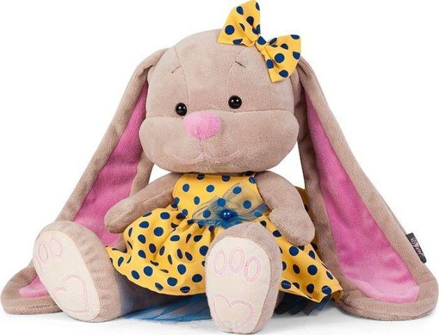 Jack & Lin Мягкая игрушка Зайка в желтом платье 25 см