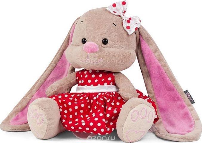 Jack & Lin Мягкая игрушка Зайка в красном платье 25 см