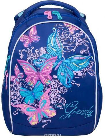 Grizzly Рюкзак школьный цвет темно-синий RG-868-4/1
