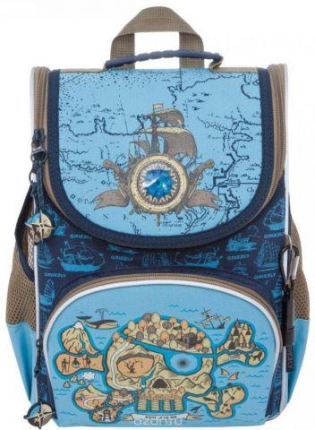 Grizzly Рюкзак школьный с мешком цвет синий голубой RA-872-1/1