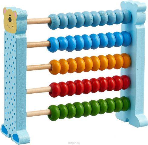 Bondibon Деревянная модель Счеты цвет голубой