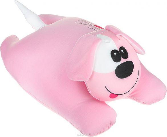 Штучки, к которым тянутся ручки Подушка-игрушка антистрессовая Собачка сердечная цвет розовый