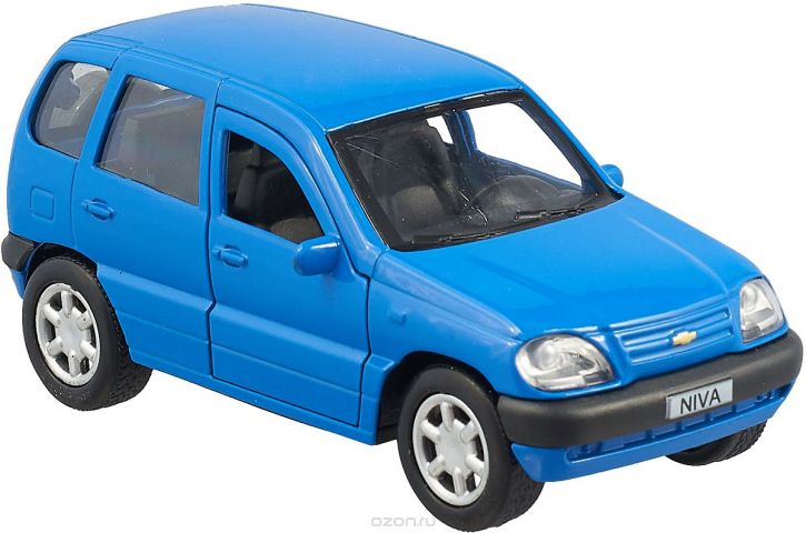 ТехноПарк Машинка инерционная Chevrolet Niva цвет синий CHEVY-NIVA-MIX
