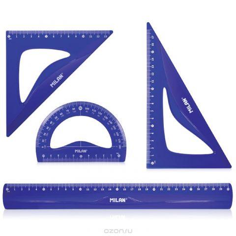 Milan Набор чертежный большой Flex & resistant цвет синий