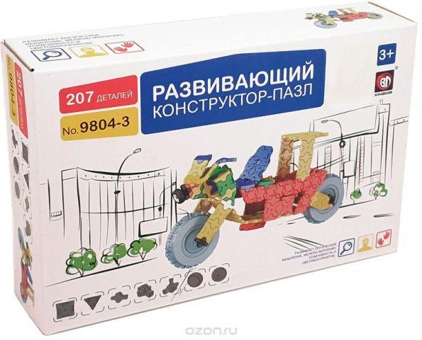 Умный Шмель Пластиковый конструктор Мотоцикл