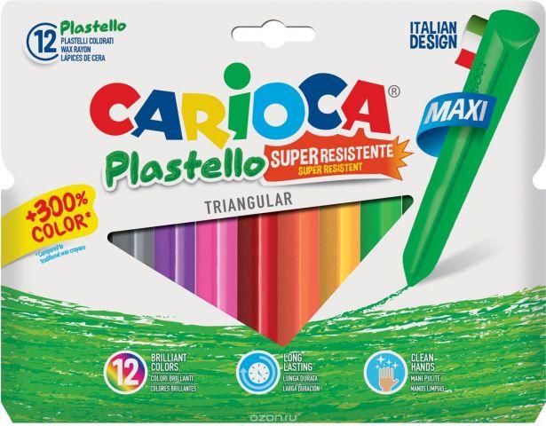Carioca Набор крупных пластиковых мелков Plastello Maxi 12 цветов