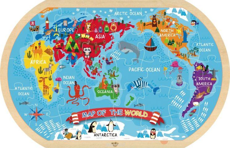 Tooky Toy Пазл Карта мира TY123