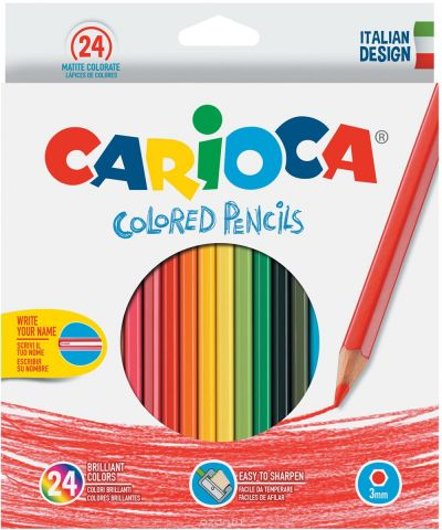 Carioca Набор цветных карандашей 24 цвета
