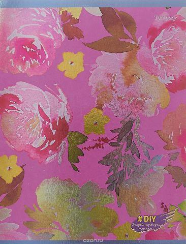 Unnika Land Тетрадь DIY Collection Цветочное великолепие 48 листов в клетку цвет фиолетовый