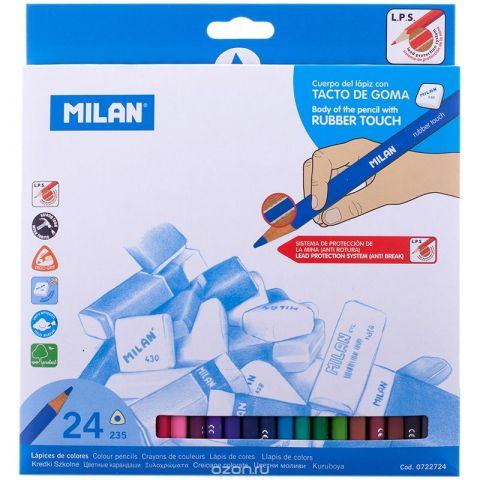 Milan Набор цветных карандашей 235 трехгранные 24 цвета