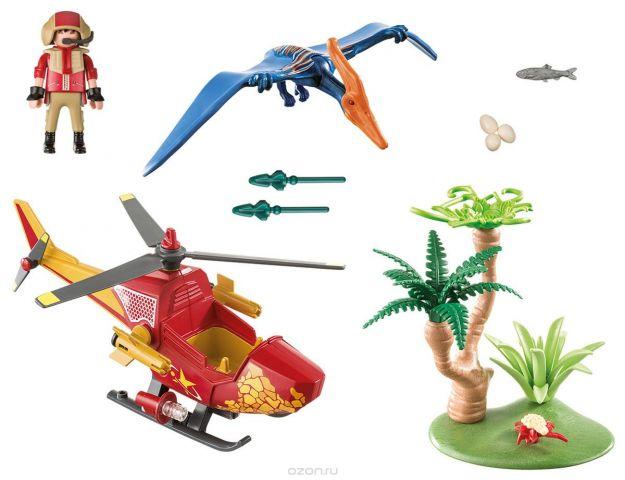 Playmobil Игровой набор Динозавры Вертолет для приключений с птеродактилем