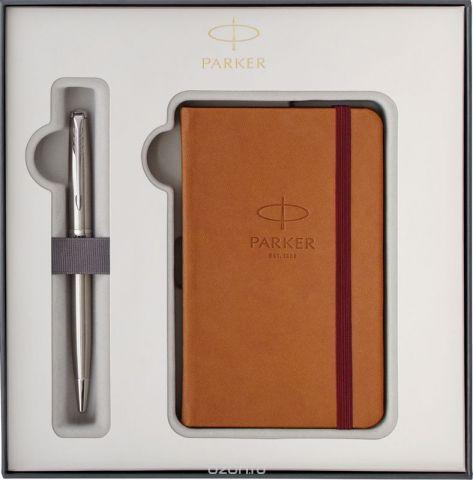Parker Набор Ручка шариковая + Записная книжка Sonnet Stainless Steel CT