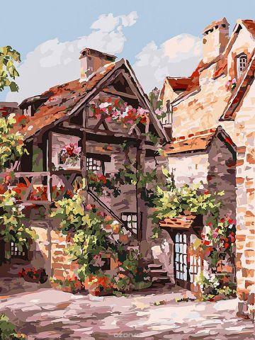 "Набор для рисования Белоснежка ""Франция. Кареннак"", 30 х 40 см"