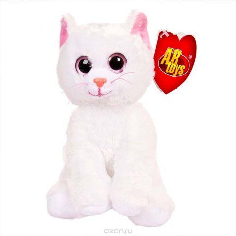 """Игрушка мягкая Abtoys """"Белый котенок"""", 15 см"""
