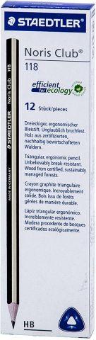 Набор чернографитовых карандашей Staedtler Noris Club НВ, 12 шт