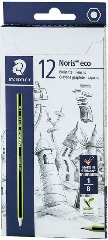 Набор чернографитовых карандашей Staedtler Noris Eco B, 12 шт