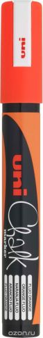 Маркер меловой Uni, PWE-5M цвет: оранжевый, 1,8-2,5 мм