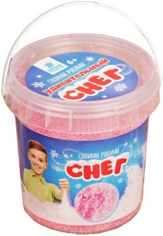 """Набор для опытов Школа талантов """"Снег своими руками. Опыты с удивительным снегом"""", 100 г, цвет: розовый"""