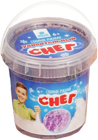 """Набор для опытов Школа талантов """"Снег своими руками. Опыты с удивительным снегом"""", 100 г, цвет: фиолетовый"""