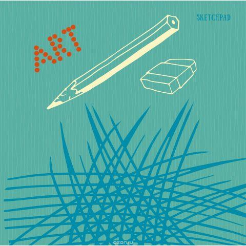 """Скетчбук Listoff """"Зарисовки и наброски"""", 40 листов, 20,5 х 20,4 см"""