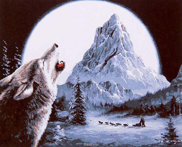 "Картина по номерам Школа талантов ""Волк"", 2461691, 30 х 40 см"