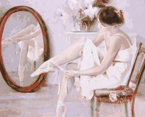 """Картина по номерам Школа талантов """"Балерина у зеркала"""", 2461703, 30 х 40 см"""