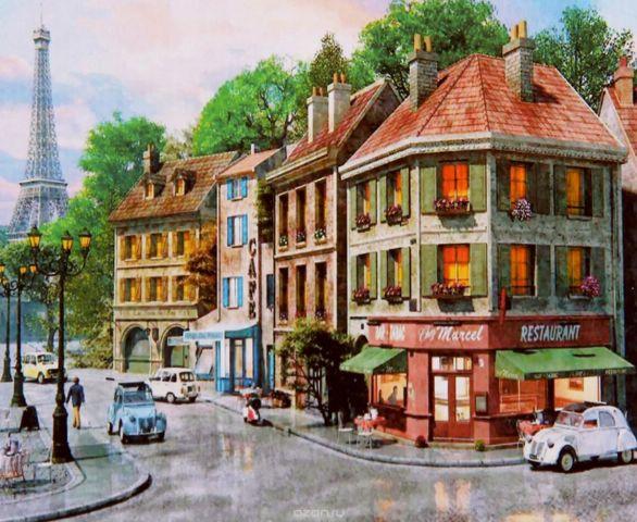 "Картина по номерам Школа талантов ""Парижские улочки"", 2467719, 30 х 40 см"