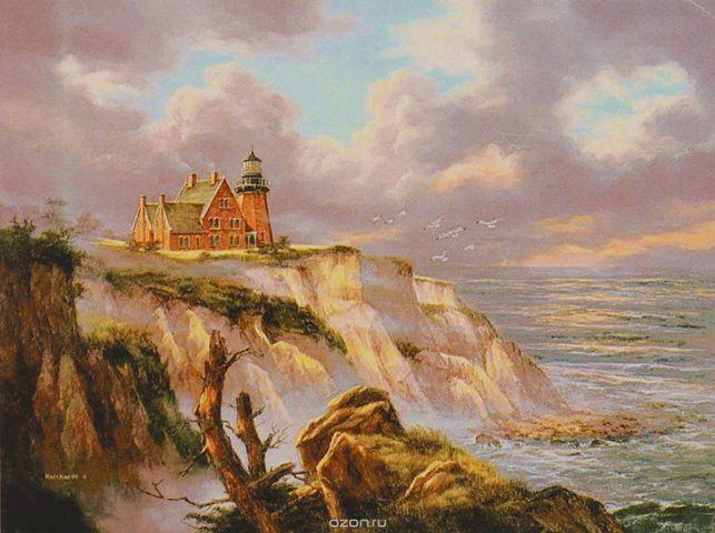 """Картина по номерам Школа талантов """"Дом с маяком"""", 3462671, 30 х 40 см"""
