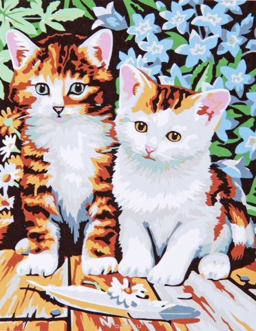 "Картина по номерам Школа талантов ""Котята"", 535010, 30 х 40 см"
