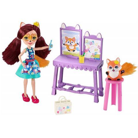 Mattel Enchantimals GBX03 Кукла со зверушкой и тематическим набором