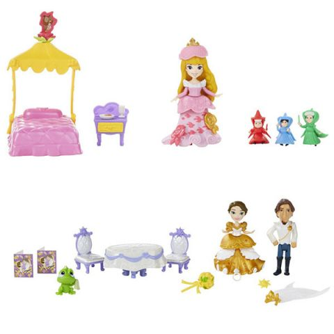 Hasbro Disney Princess B5341 Принцессы Дисней Маленькая кукла и сцена из фильма (в ассортименте)