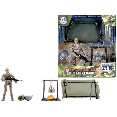 "World Peacekeepers MC77016 Игровой набор ""WP. Привал"" 1:18, (1 фигурка)"