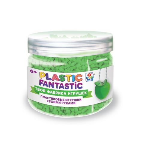 1toy T20219 Plastic Fantastic Гранулированный пластик в баночке 95 г, (зеленый с аксессуарами)