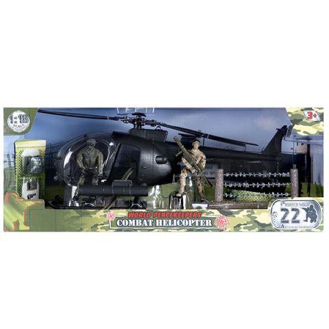 "World Peacekeepers MC77031 Игровой набор ""Вертолёт"" 2 фигурки, 1:18"