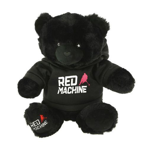 SOFTOY C2011325 Игрушка мягкая Медведь черный в толстовке  25 см.