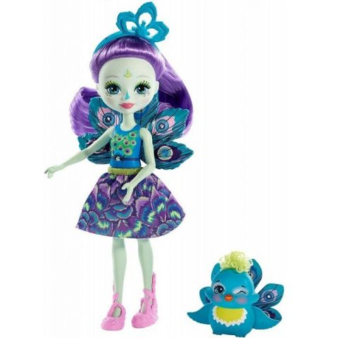 Mattel Enchantimals FXM74 Кукла с питомцем Пэттер Павлина