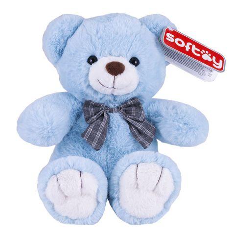 SOFTOY C1716422-3 Медведь голубой 30 см