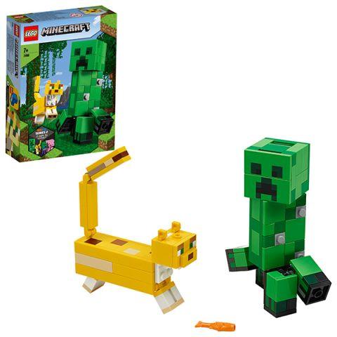LEGO Minecraft 21156 Конструктор ЛЕГО Майнкрафт Большие фигурки Minecraft, Крипер и Оцелот