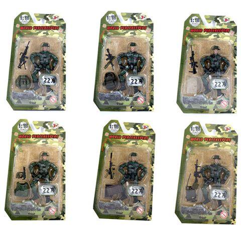 """World Peacekeepers MC77001 Игровой набор """"Солдат"""" 1:18 (в ассортименте)"""