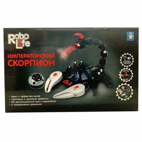 1toy T16439 Императорский Скорпион с парогенератором на ИК управлении (звук, свет, движение)