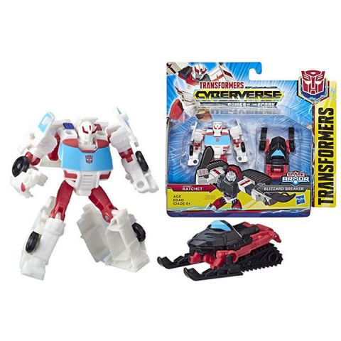 Hasbro Transformers E4219/E4299 Трансформеры КИБЕРВСЕЛЕННАЯ СПАРК АРМОР Рэтчет 13 см.
