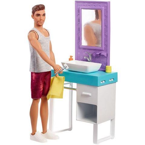 Mattel Barbie FYK53 Барби Кен и набор мебели