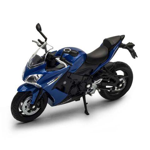 Welly 12844P Велли модель мотоцикла 1:18 Suzuki GSX S1000F