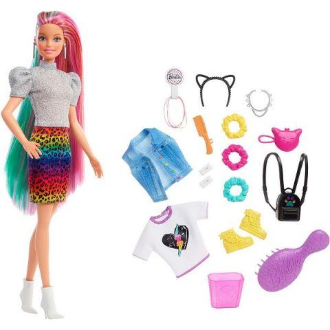 Mattel Barbie GRN81 Барби Кукла с разноцветными волосами