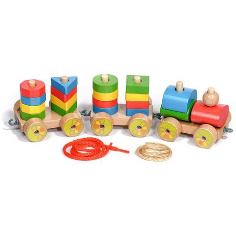 Игрушки из дерева D163 Паровозик