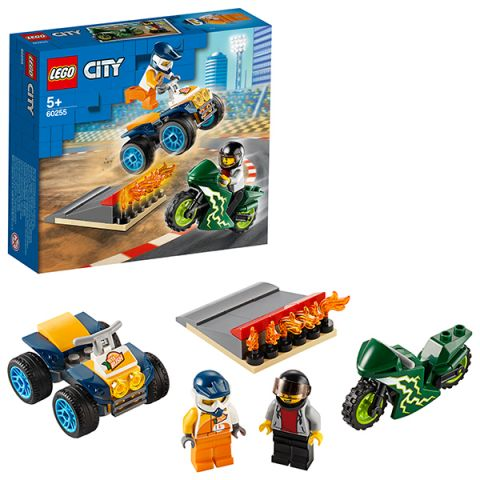 LEGO City 60255 Конструктор ЛЕГО Город Turbo Wheels Команда каскадёров