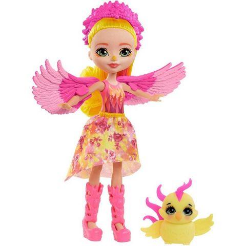 Mattel Enchantimals GYJ04 Кукла Enchantimals дополнительная с питомцем Фалона Феникс и Санрайз